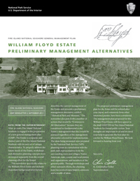 Cover of GMP Newsletter 3, September 2011: William Floyd Estate Alternatives