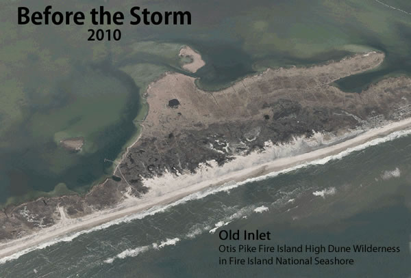 Old Inlet on Fire Island before Hurricane Sandy