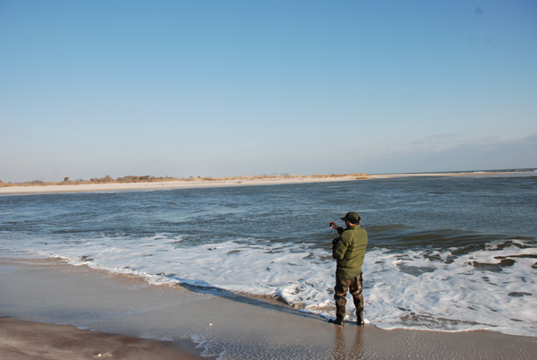 Monitoring breach at Old Inlet on January 4, 2013