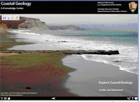 Coastal Geology Multimedia program cover.