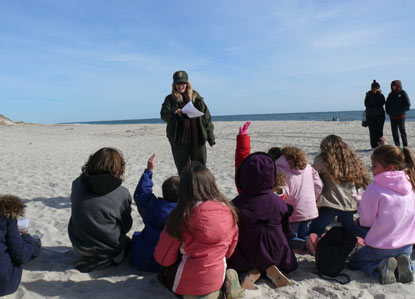 Junior Ranger  beach program on Fire Island