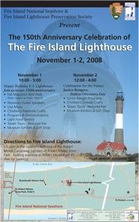 Poster for 150th Anniversary Celebration of Fire Island Lighthouse.