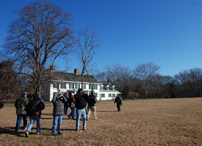 Winter birdwatching program at William Floyd Estate
