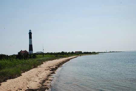 View of Fire Island Lighthouse from the Great South Bay