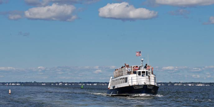 A-ferry-filled-with-passengers-sails-on-the-Great-South-Bay-to-Watch-Hill-on-Fire-Island