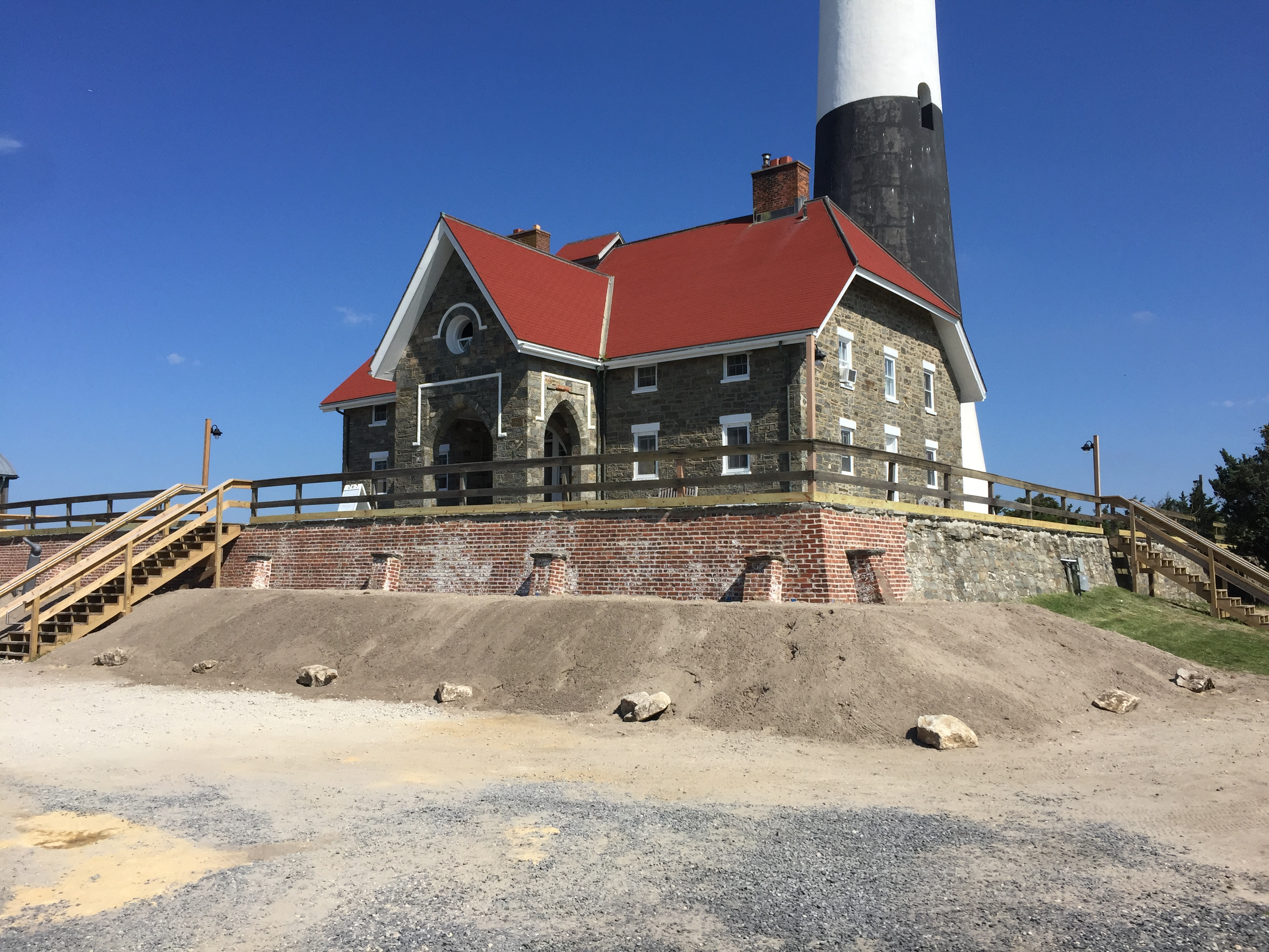 Historic lighthouse, keepers quarters and terrace.