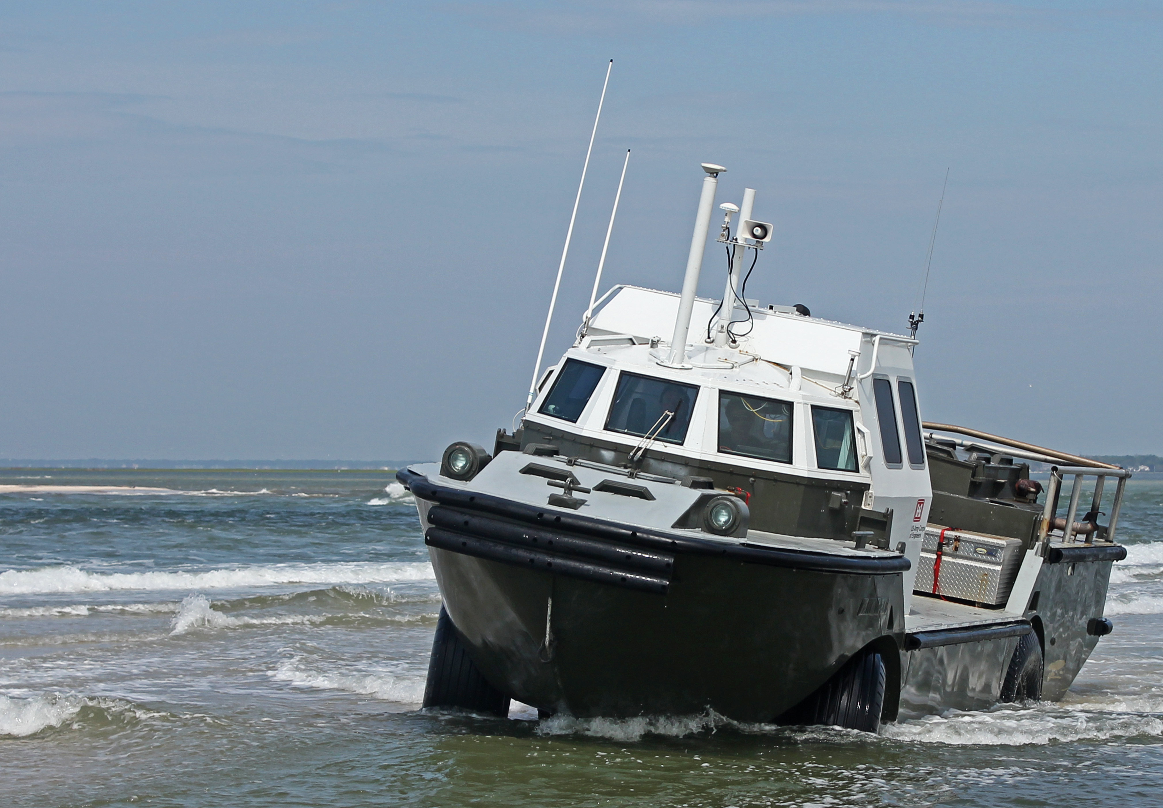Amphibious Vehicle To Aid In Shoreline Research Fire