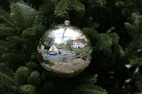 White House Photo of Fire Island Ornament on tree.