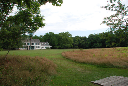 Mowed path leading to William Floyd Estate's Old Mastic House.