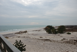 View of Fire Island Wilderness and Beach from the overlook at the Visitor Center