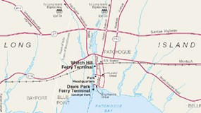 Map of Patchogue facilities.