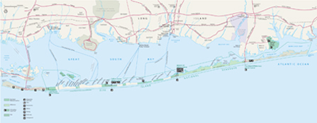 Map of Fire Island National Seashore with links