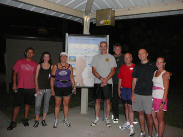 Moonlit Runs are a fun and healthy way to learn more about Fire Island.