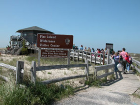 Group arrives at Wilderness Visitor Center on Fire Island.
