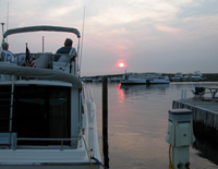 Watch Hill Marina at sunset.