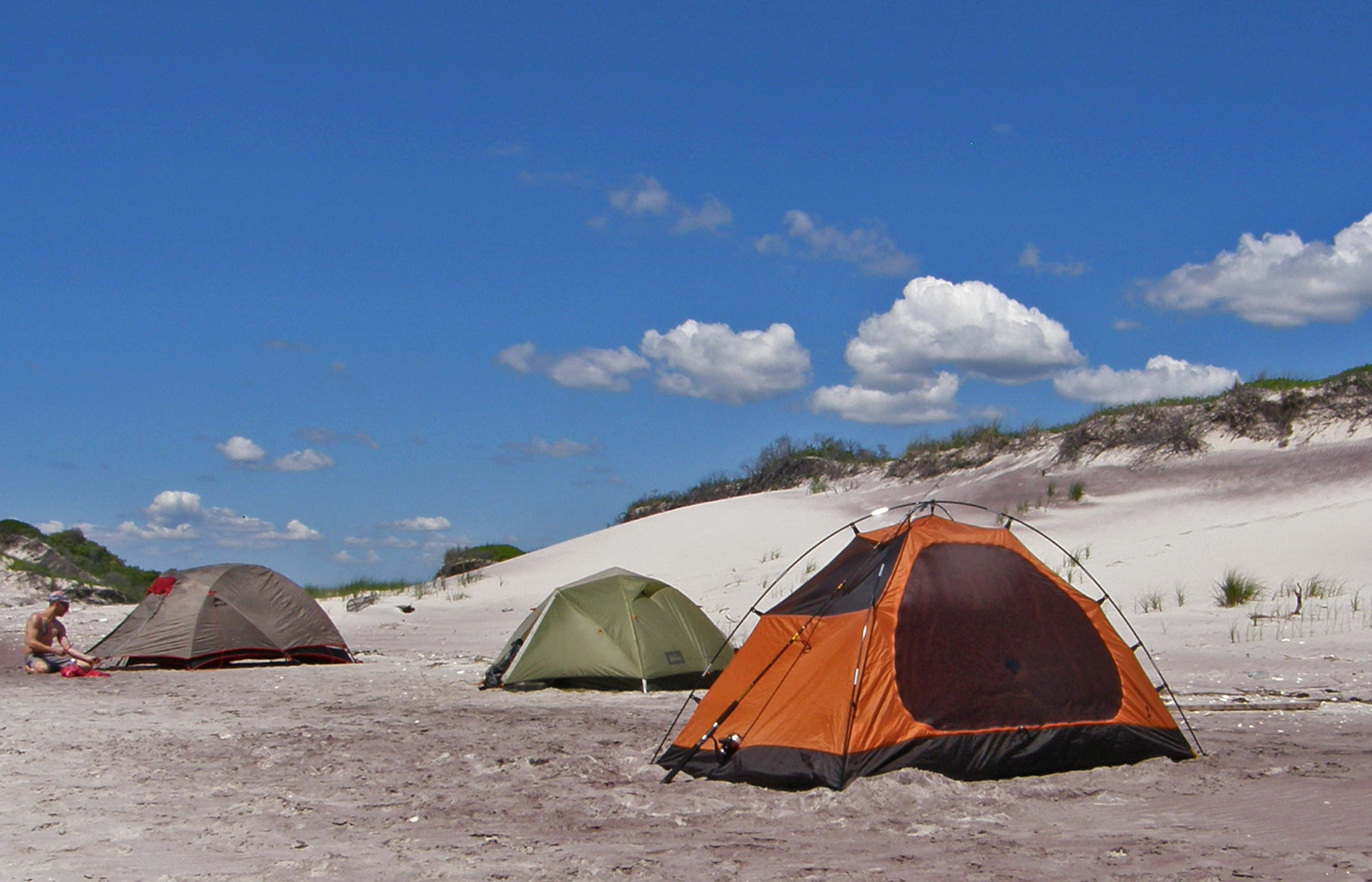 There are three ways to enjoy camping on Fire Island