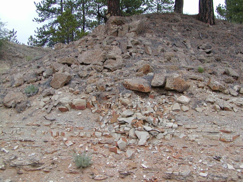 Caprock conglomerate near the visitor center.