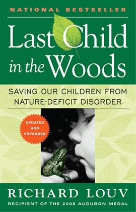 Photograph of cover of the book The Last Child in the Woods
