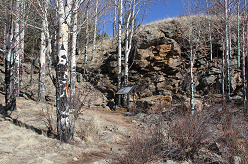 Rock formation on Geologic Trail