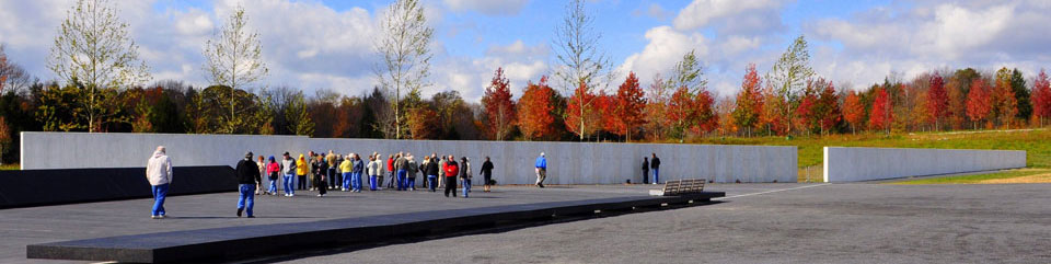 The Wall of Names at the Memorial Plaza