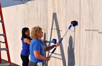 Friends of Flight 93 washing the Wall of Names