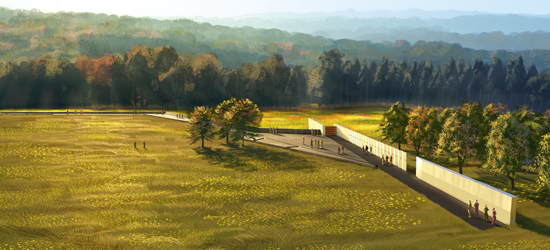 New artist rendering of the Flight 93 National Memorial