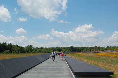 Memorial Plaza wall and walkway