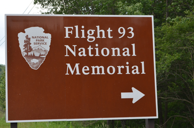Sign near entrance on US Route 30