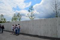 Visitors at the Wall of Names