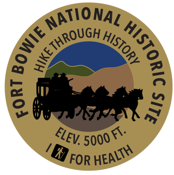 I Hike for Health pin for Fort Bowie National Historic Site