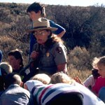 ranger Marcia and students