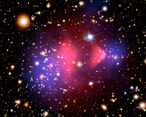NASA image of the Bullet Cluster