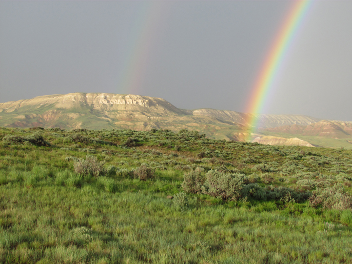 Fossil Butte double rainbow