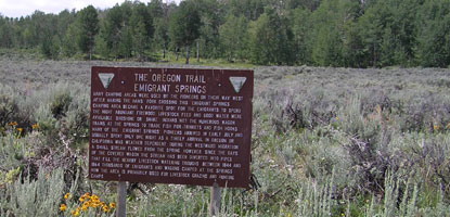 Emigrant Springs on the Sublett Cutoff of the Oregon Trail
