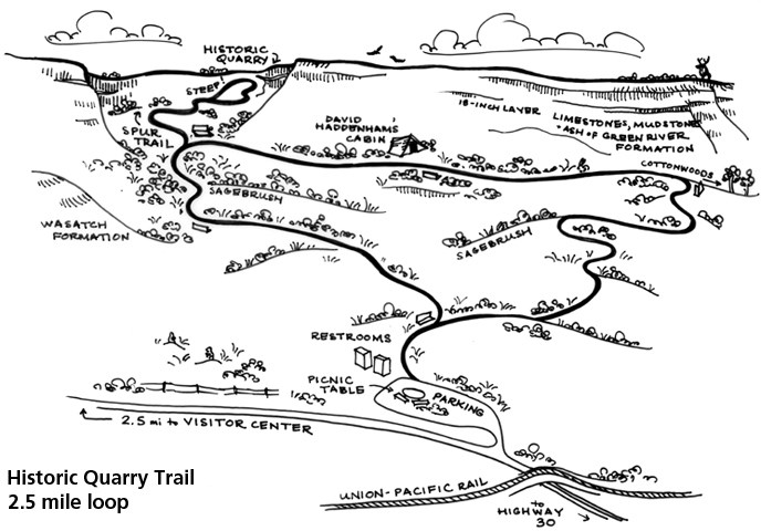 map of Historic Quarry Trail