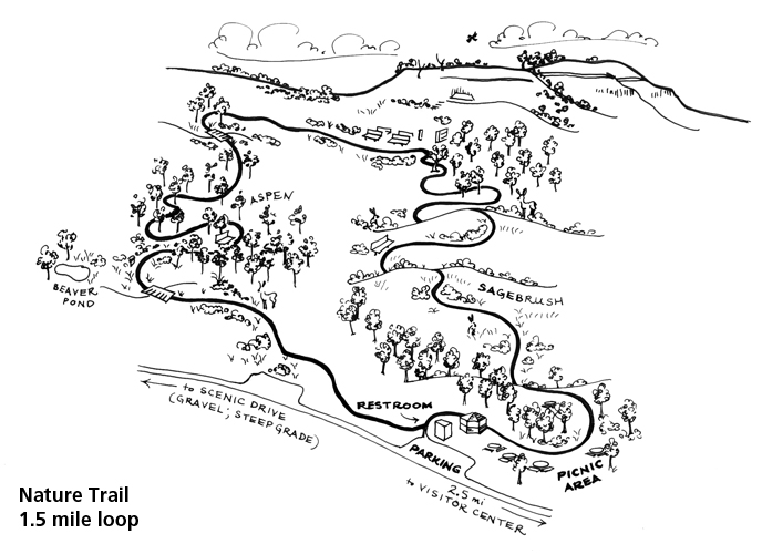 map of Chicken Creek Nature Trail (previously Fossil Lake Trail)