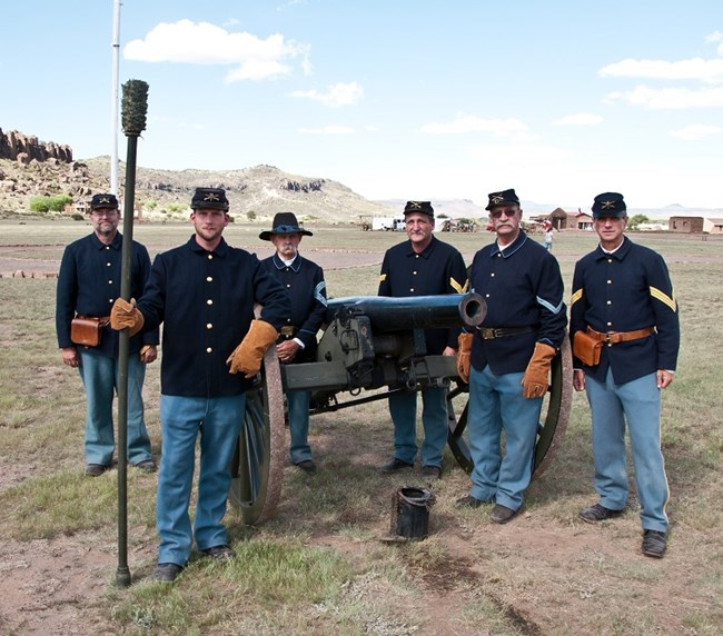 Artillery Crew at Fort Davis