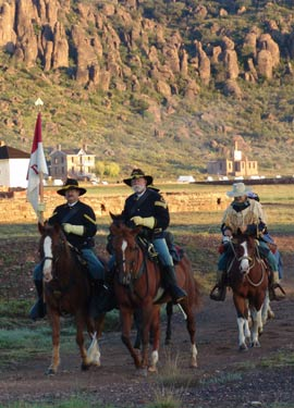 Photo of Cavalry at Fort Davis NHS.
