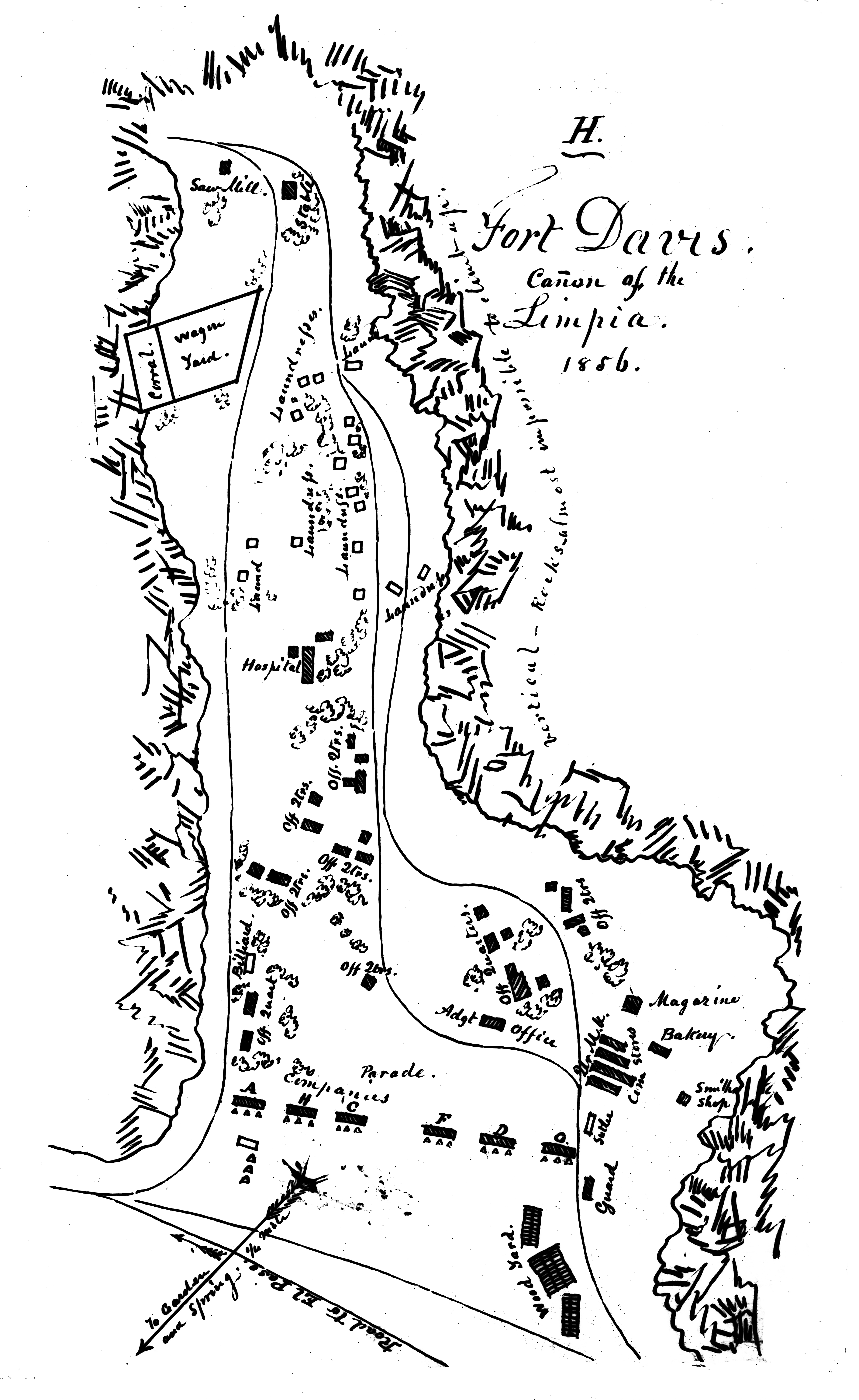 Sketch map of the Pre-Civil War Fort