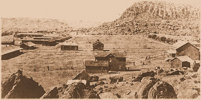 Historic photo of Fort Davis in the mid-1880's.