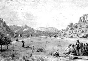 First Fort Davis Painting by Arthur Lee