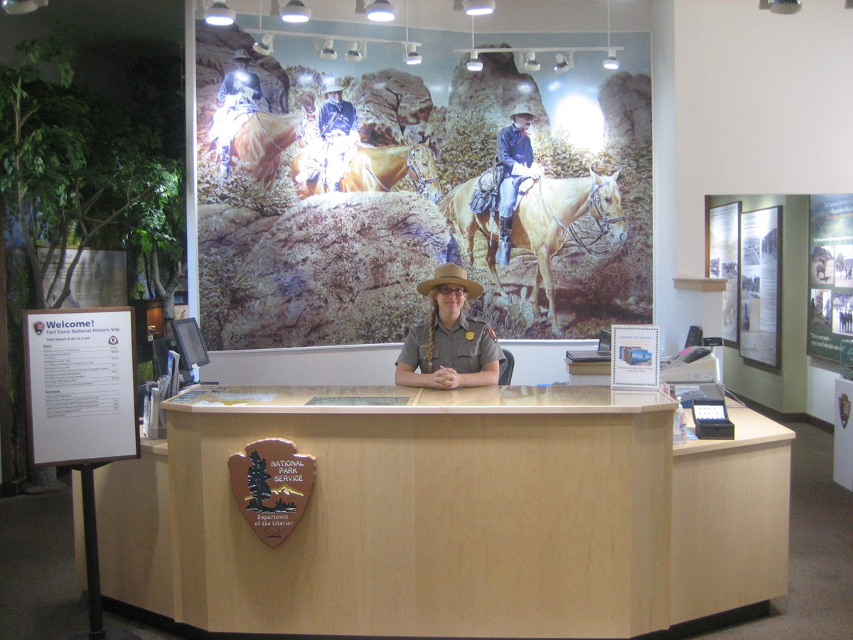 Ranger at Visitor Center Desk