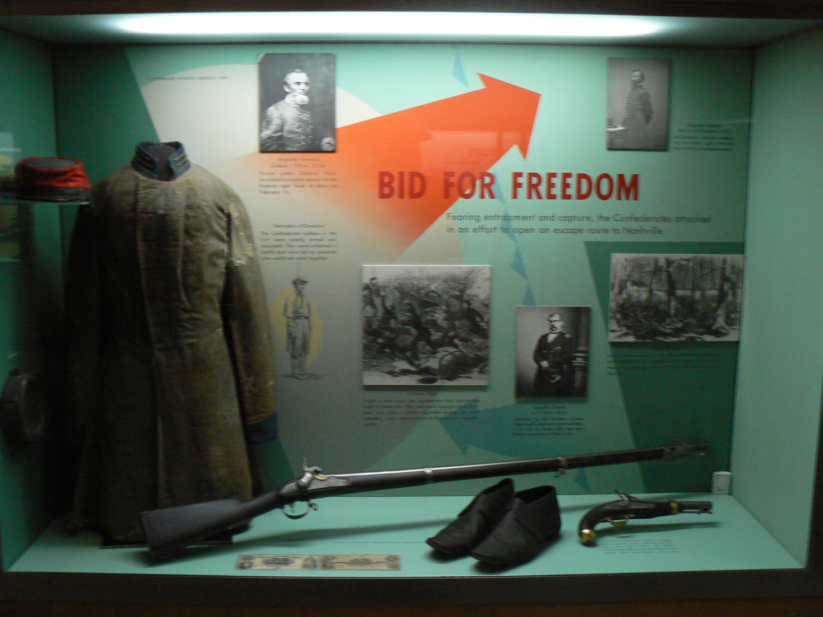 This exhibit helps us understand the effort the Confederates made to escape towards Nashville on February 15, 1862.