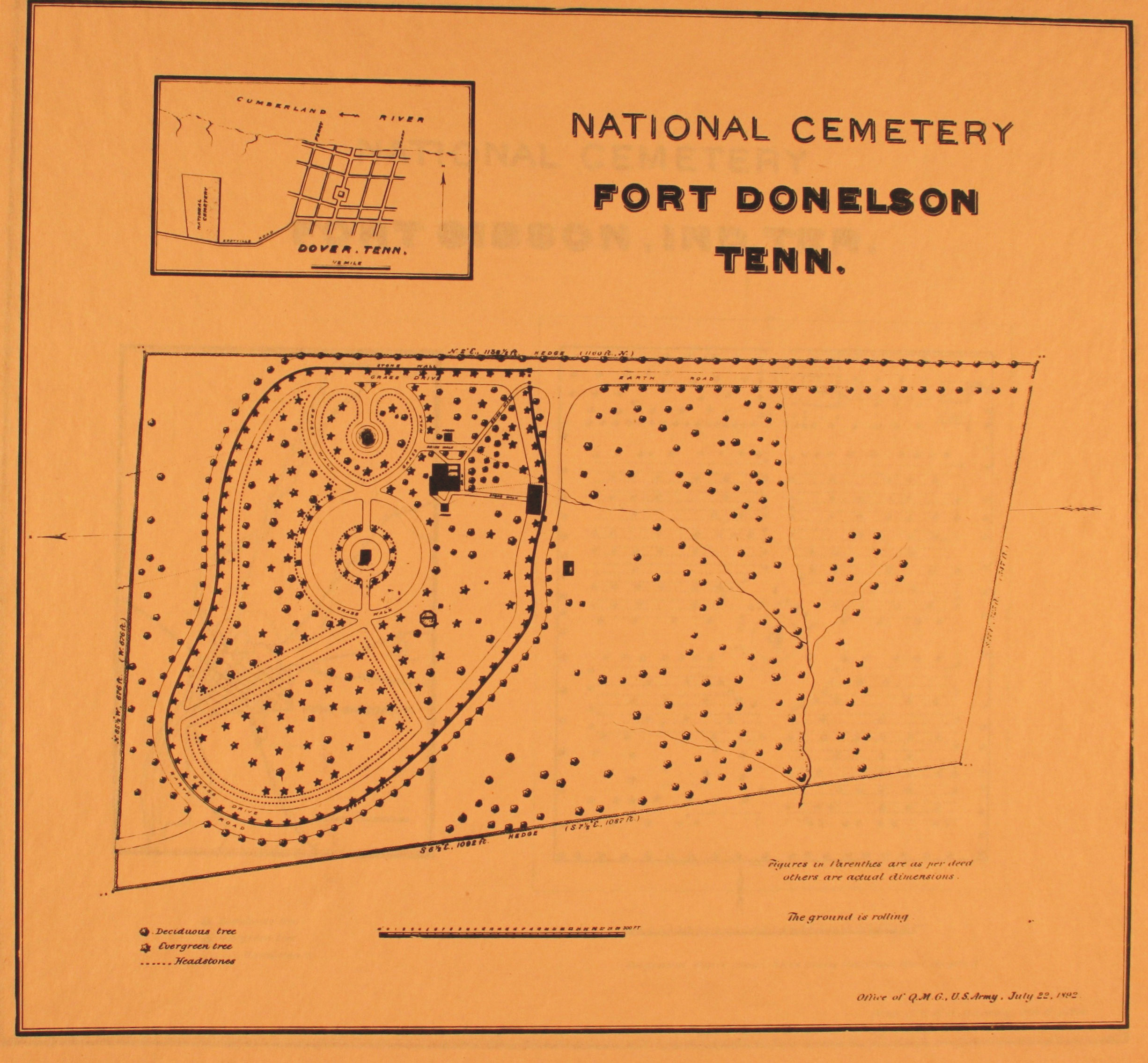 Fort Donelson National Cemetery Fort Donelson National - Fort donelson on us map