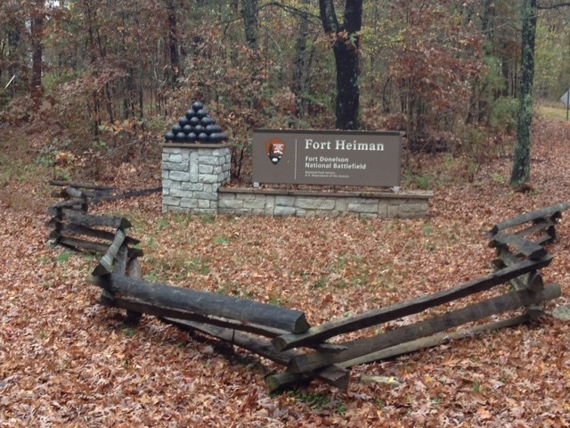Fort Heiman Entrance sign