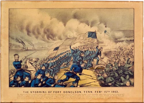 interpretation of the storming of Fort Donelson  February 15  1862