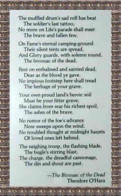 Bivouac of the Dead Poem