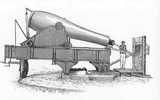 Drawing of a Rodman Cannon