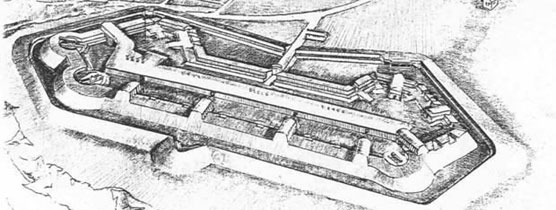 Historic drawing of Fort Foote.