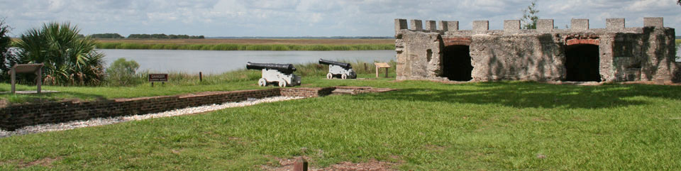 The archeological remains of Fort Frederica